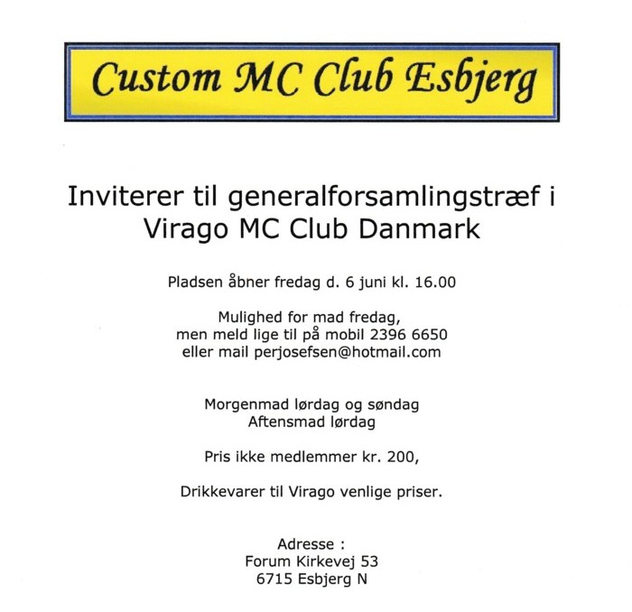 Generalforsamlings Flyer